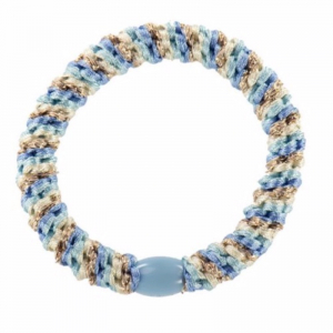 Haargummi /Armband, Light Blue Gold Mix